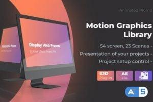 Videohive Animated Screen Website Mockup Promo – iMac Pro Mockup Web Presentation 25507976