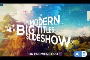 Videohive Big Titles Glitch Slideshow for Premiere Pro 25547353