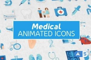 Videohive 36 Medical Animated Icons 25356975