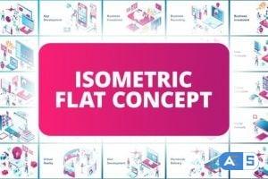 Videohive Isometric Flat Concept 23352830