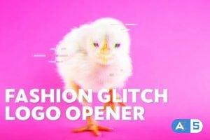Videohive Dynamic Fashion // Glitch Logo Opener 23699807
