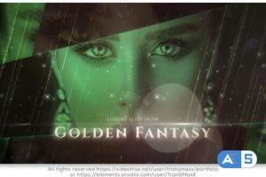 Videohive Golden Fantasy Luxury Slideshow 25543195