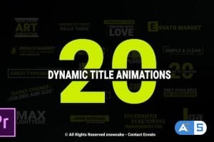 Videohive Dynamic Titles For Premiere Pro 22923056