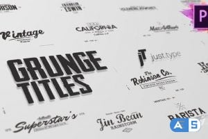 Videohive Just Type | Grunge Titles For Premiere Pro 24036560