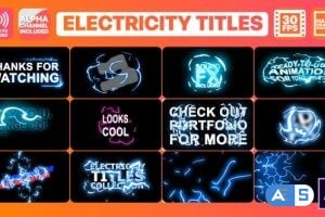 Videohive Electricity Titles Collection 24834270