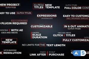 Videohive Glitch Titles // Essential Graphics 22560800