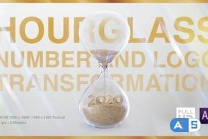 Videohive Hourglass Number and Logo Transformation 25550747