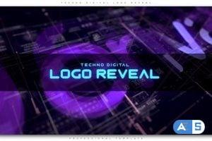 Videohive Techno Digital Logo Reveal 22649844