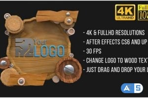 Videohive Wooden Logo (AfterFX) 23435315
