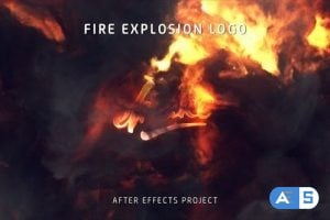Videohive Fire Explosion Logo 25581039