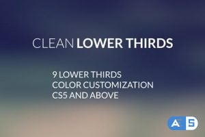 Videohive Clean Lower Thirds 12874111