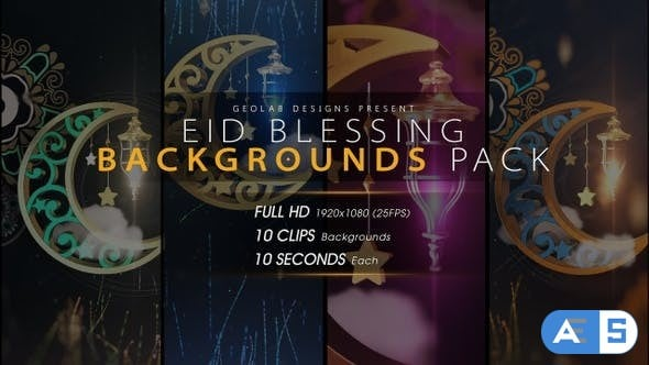 Videohive Eid Blessing Backgrounds Pack 23847911