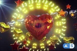 Videohive Shiny Heart Background 4k 25417741