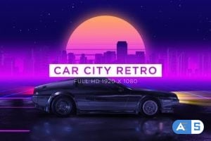 Videohive Car City Retro Vj Loops Background 24593403