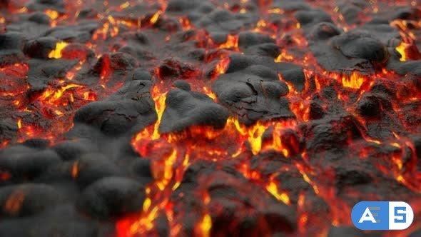 Videohive 4K Volcanic Lava 24624400