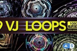 Videohive Futuristic Time Tunnels VJ Loops 9 In 1 23138181