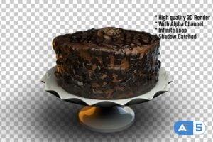 Videohive Chocolate Cake rotating 24342373
