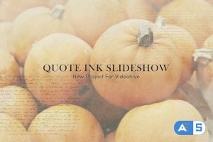Videohive Quote Ink Slideshow 24803085