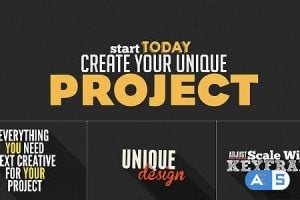 Videohive Kinetic Typography Shop 7501359