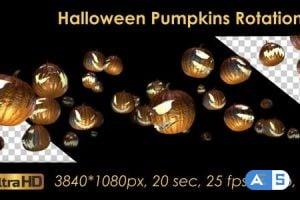 Videohive Halloween Pumpkins Rotation 20656504