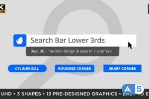 Videohive Search Bar Titles & Lower Thirds | MOGRT for Premiere Pro 25433076