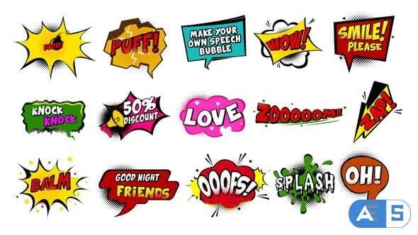 Videohive Comic Speech Bubbles 22476273