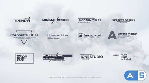 Videohive Clean Titles 20230052
