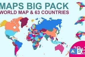 Videohive Maps Big Pack 24207754