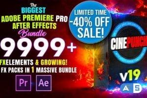 Videohive CINEPUNCH – Transitions I Color LUTs I Pro Sound FX I 9999+ VFX Elements Bundle V18 20601772