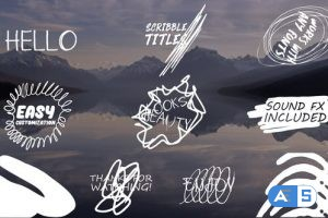 Videohive Cartoon Scribble Titles | After Effects + MOGRT 24188514
