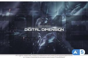 Videohive Digital Dimension Techno Slideshow 25765666