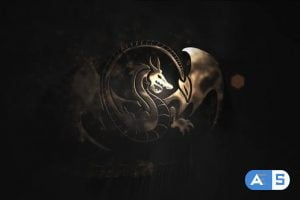 Videohive Gold Particles Logo 25798082