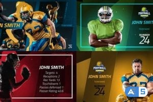 Videohive Sport Player Profiles Pack 25591541