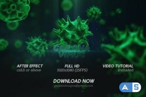 Videohive Corona Virus Titles l Virus Opener l Medical Template l Healthcare Presentation 25700400