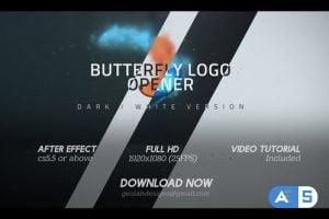 Videohive Butterfly Logo Opener l Elegant Logo Opener l Flipping Wings Logo Opener 25587488