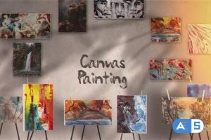 Videohive Canvas Painting Gallery 25799515