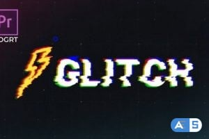 Videohive Glitch Logo Premiere Pro MOGRT 25745727