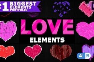 Videohive Cartoon Love Elements | Premiere Pro MOGRT 25691969
