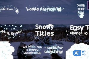 Videohive Snow Titles | After Effects 25400187