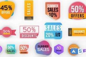 Videohive Sales Badges Elements Pack 25128356