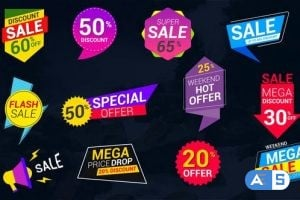 Videohive Sale Lables & Badges 24321838