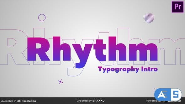 Videohive Rhythm Typography Intro 25022339
