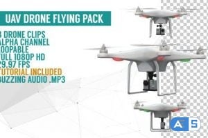 Videohive UAV Drone Flying Pack 12871431