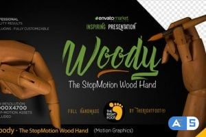Videohive Wood Hand Stop Motion Bundle 20514407