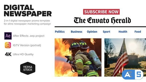 Videohive Online Newspaper Promotion 25802363