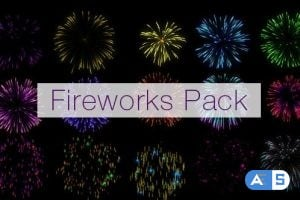 Videohive Realistic Fireworks Pack 20397628