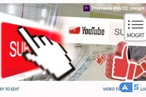 Videohive YouTube Opener // Premiere Pro | Mogrt 25552335