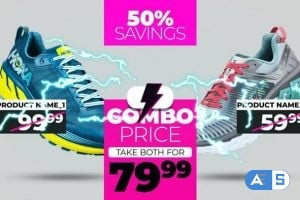 Combo SALE – Online Shop Product Promo Video Template AEP 1637702