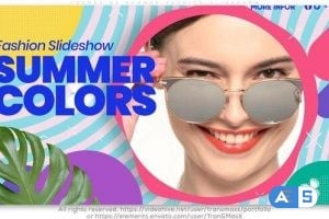 Videohive Colors of Summer Fashion Slideshow 25921832