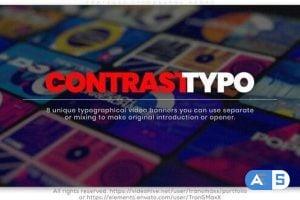 Videohive Contrast Typography Promo 25900458